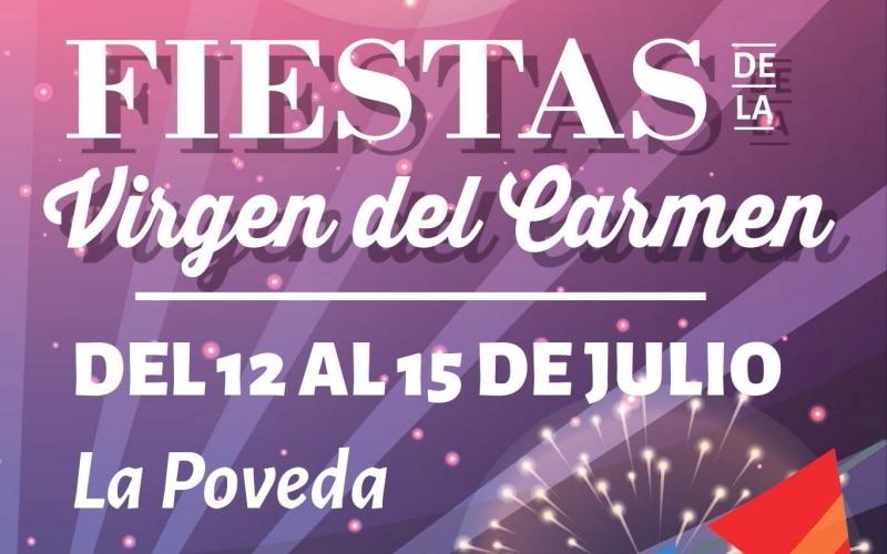 Cartel de las fiestas Virgen del Carmen, en Arganda del Rey.