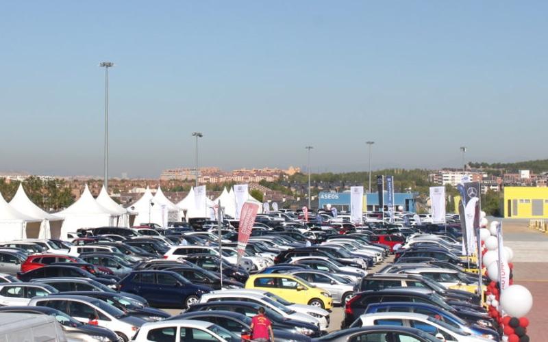 Imagen de la II Feria del Automóvil de Rivas Vaciamadrid.