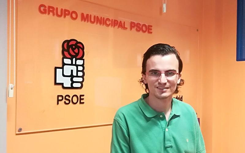 Rodrigo Parra, concejal del PSOE en el Ayuntamiento de Rivas Vaciamadrid