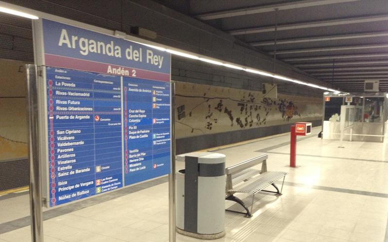 Estación de Metro de Arganda del Rey (Fuente: Diario de Rivas)