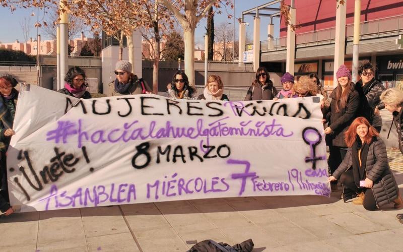 Reunión, el 2 de febrero, de la Asamblea 8M de Rivas