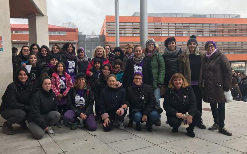 Un grupo de mujeres de la Asamblea 8M de Rivas