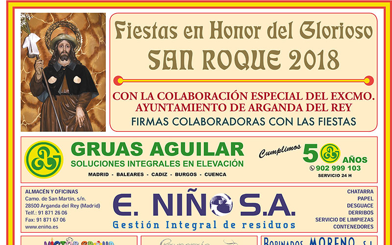 Arganda del Rey celebrará las tradicionales fiestas de San Roque