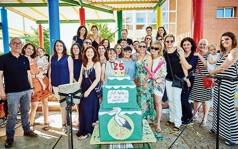 Las Cigüeñas y el IES Europa cumplen 25 y 20 años