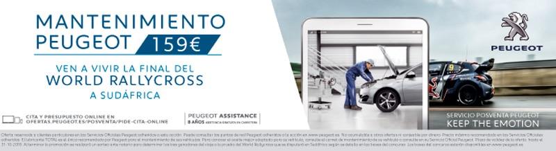 Promoción mantenimiento Peugeot Iluscar