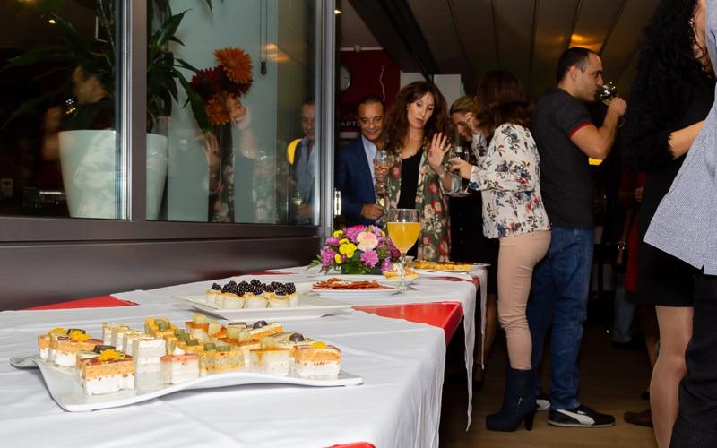 Un momento del cóctel con el que se celebró el aniversario del Hotel AB Rivas