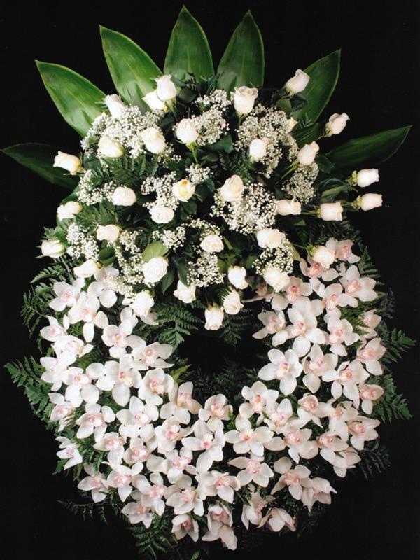 Corona de orquídeas Tanatorio Funeraria de Rivas