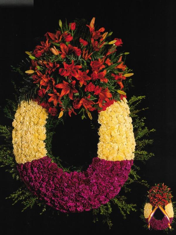 Corona de flores republicana Tanatorio Funeraria de Rivas