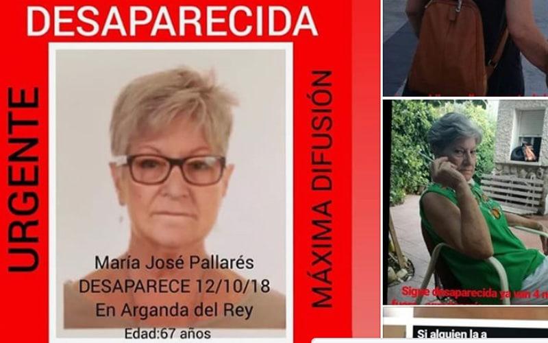 Desaparecida en Arganda, María José Pallarés