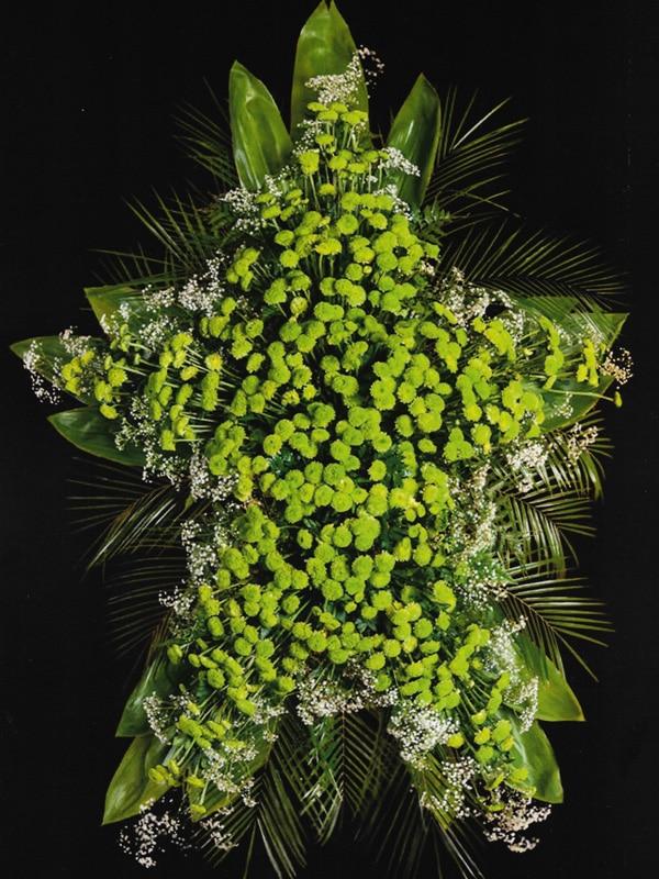 Estrella verde flores tumbas Tanatorio Funeraria de Rivas