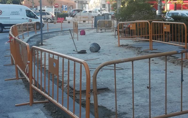 Obras en la avenida de Covibar