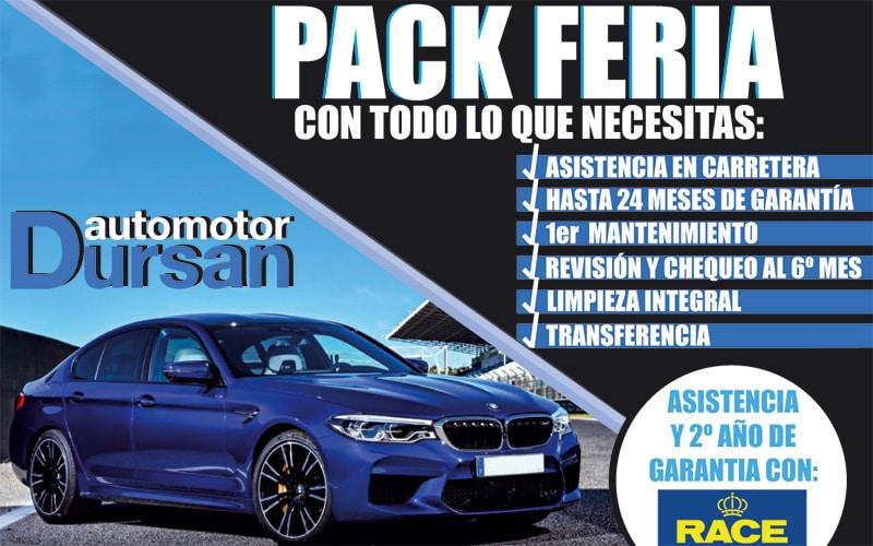 Automotor Dursan llega a la Feria del Automóvil con un 'pack' irrepetible: hasta 24 meses de garantía, asistencia en carretera, chequeo en taller propio y más