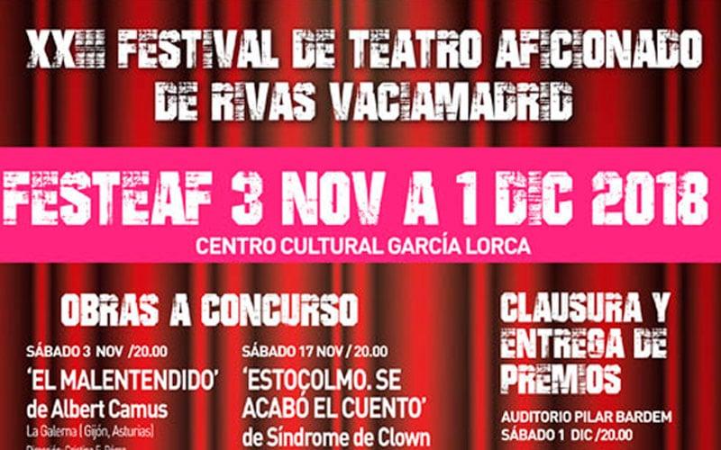 Arriba el telón: vuelve Festeaf, el Festival de Teatro Aficionado de Rivas