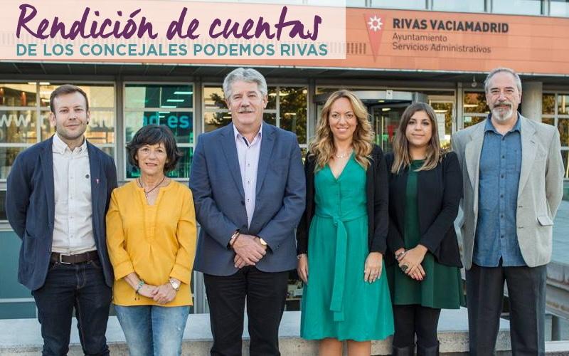 Los concejales de Podemos en Rivas rendirán cuentas este domingo ante la ciudadanía