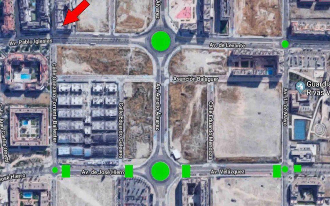 Preocupación en la avenida de Pablo Iglesias de Rivas por un cruce «peligroso»