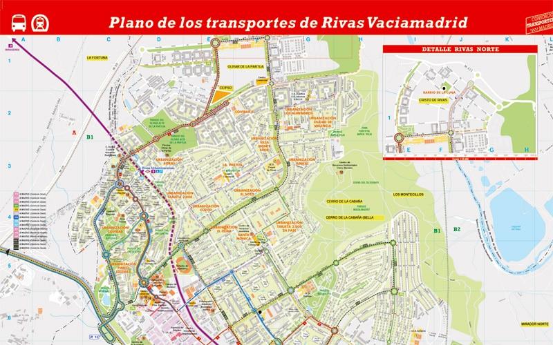 Así es el nuevo plano de los autobuses de Rivas