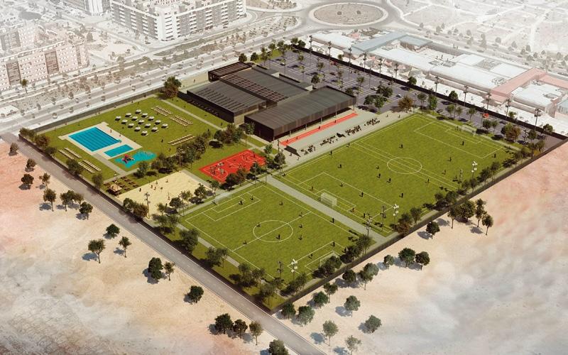 Infografía del futuro centro deportivo La Luna