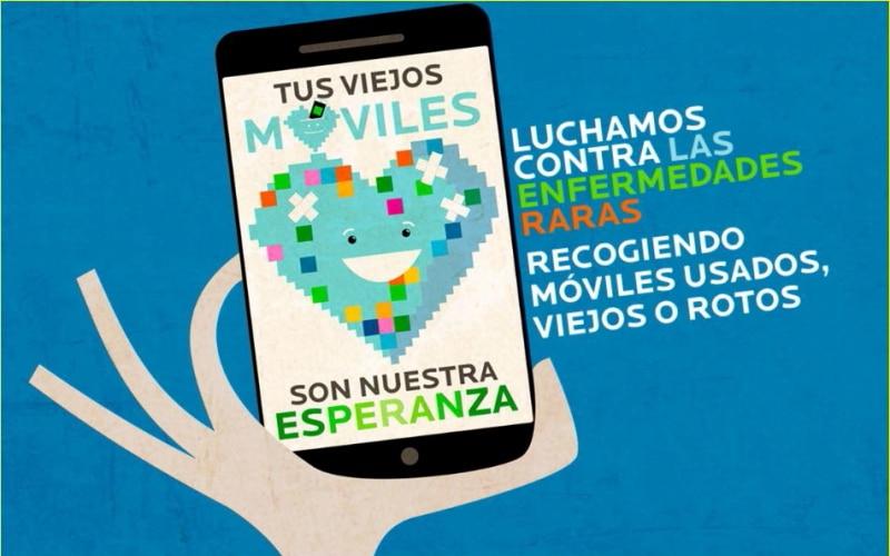 Cartel de la campaña de recogida de móviles