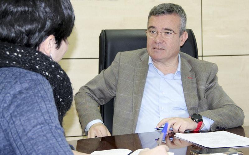Guillermo Hita, en un momento de la entrevista