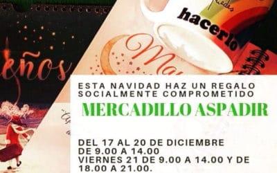 Aspadir organiza un mercadillo solidario para esta Navidad