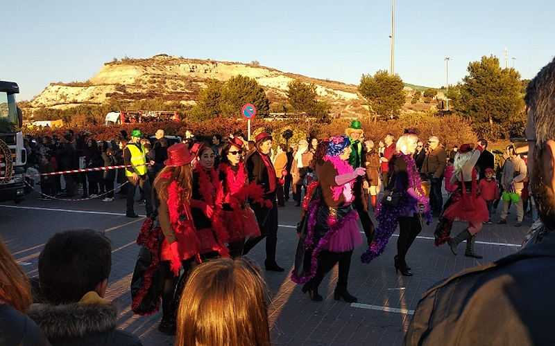Un momento del desfile de la cabalgata