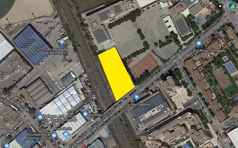 El Ayuntamiento de Rivas saca a la venta por 3,6 millones una parcela para construir viviendas junto al Luyfe