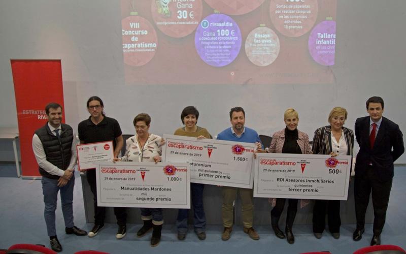 Entrega de premios del VII Concurso de Escaparatismo Navideño de Rivas