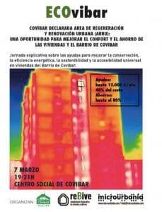 Cartel de la sesión informativa sobre cómo solicitar las ayudas para reformar las viviendas de Covibar
