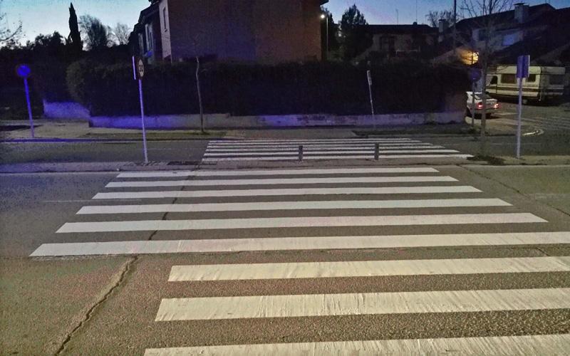 Rivas recurre a los pasos de peatones asimétricos para prevenir atropellos