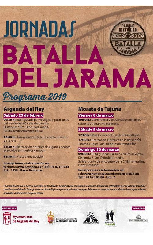 Cartel del 82 aniversario de la Batalla del Jarama.