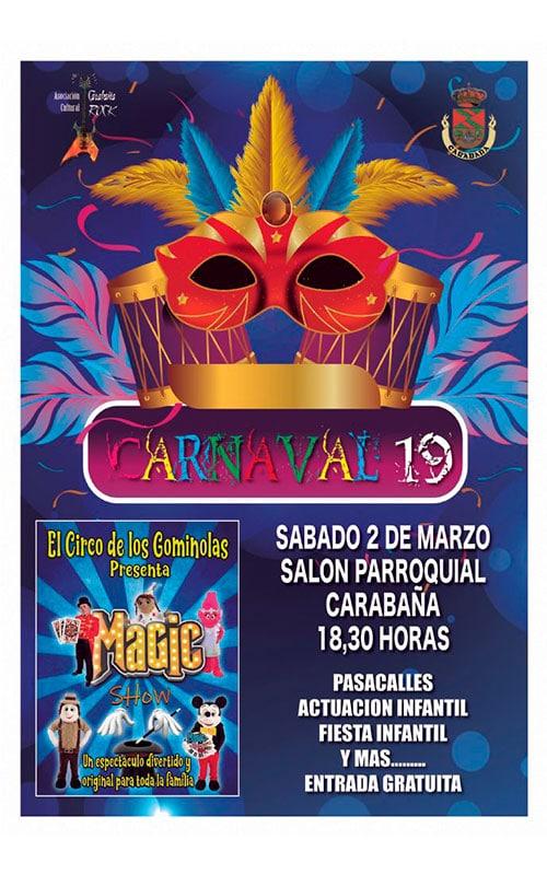 Cartel Carabaña Carnaval 2019