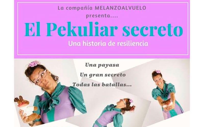 """Espectáculo para adultos. Cartel de """"El Pekuliar secreto""""."""