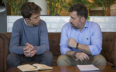 Íñigo Errejón y Pedro del Cura acuerdan la candidatura 'IU-Equo-Más Madrid' a la alcaldía de Rivas