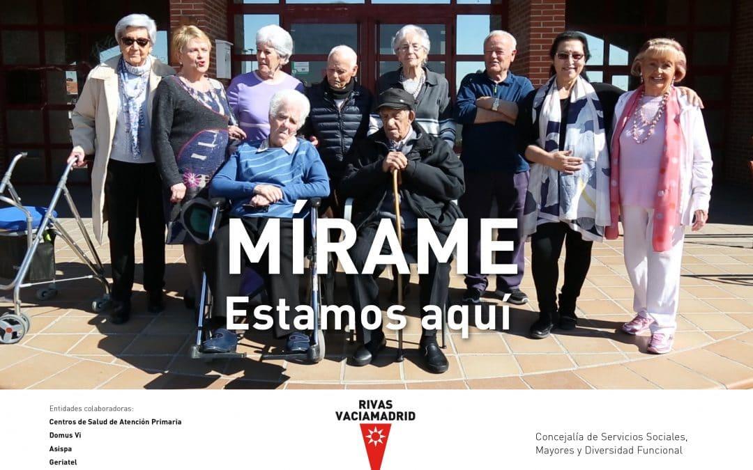 'Mírame, estoy aquí': Rivas reivindica a las personas mayores