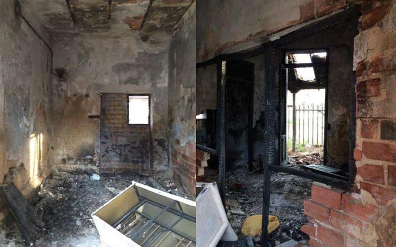 Estado actual del interior de la 'casita del guardia' de la Azucarera de Arganda