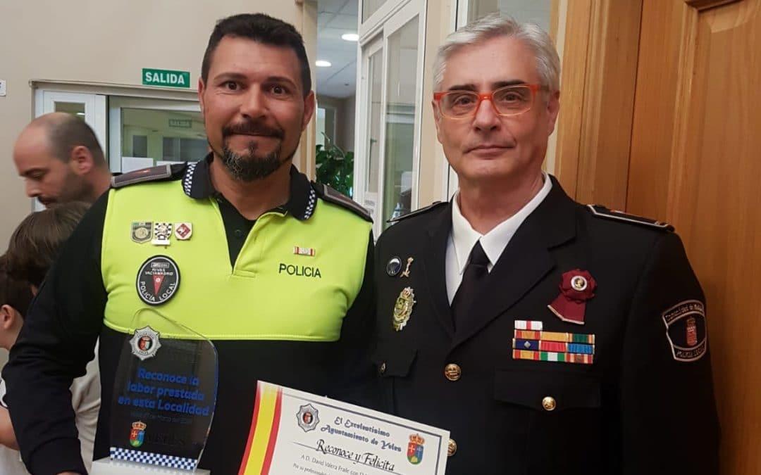 Reconocimiento en Yeles al agente de policía local de Rivas David Valera
