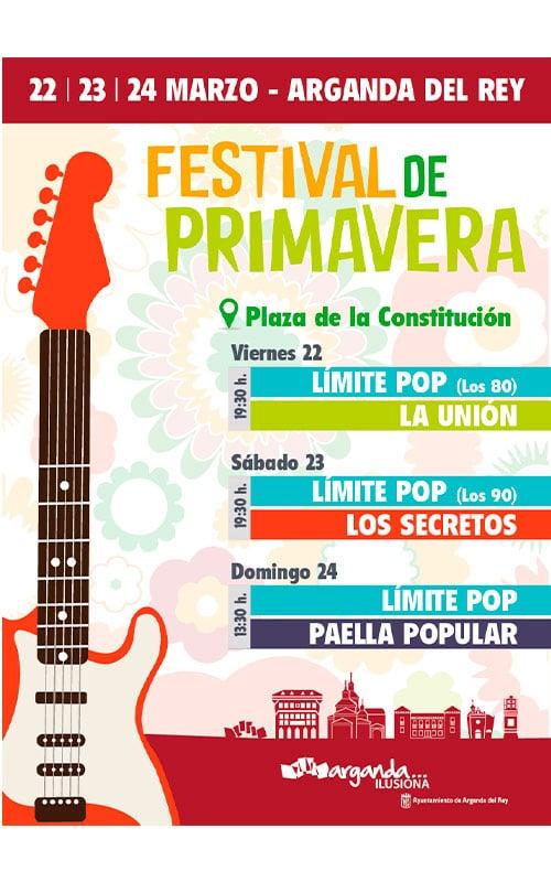 Cartel del II Festival de la Primavera de Arganda del Rey.
