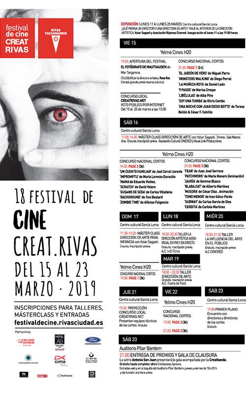 Programa de Creat Rivas. Festival de cine en Rivas.