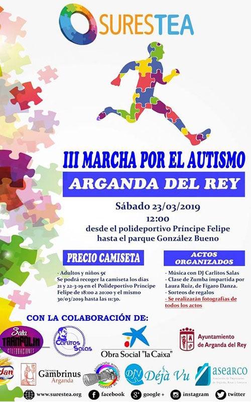 Cartel III Marcha por el Autismo.