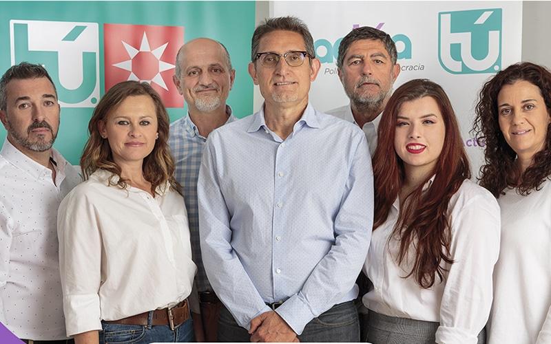 Marcos Sanz, Alicia de la Puente y el resto de candidatos de Actúa en Rivas Vaciamadrid