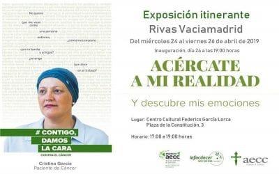 La AECC muestra en una exposición en Rivas las emociones de pacientes con cáncer