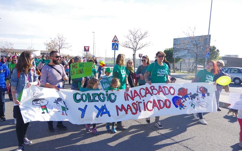 Rivas cierra un fin de semana de movilizaciones contra la 'masificación' educativa
