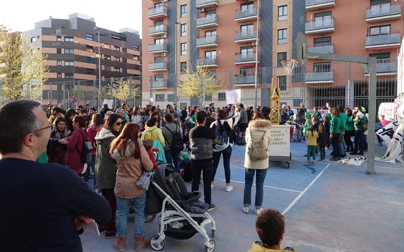 Manifestación del colegio La Luna