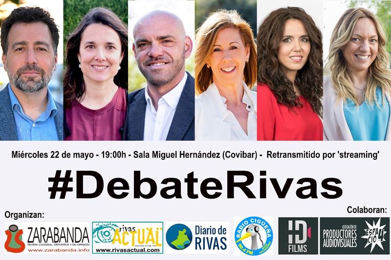 Debate electoral en Rivas: seis candidaturas defenderán el 22 de mayo sus propuestas para la ciudad