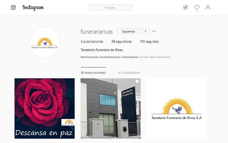 Tanatorio Funeraria de Rivas estrena sus perfiles en redes sociales