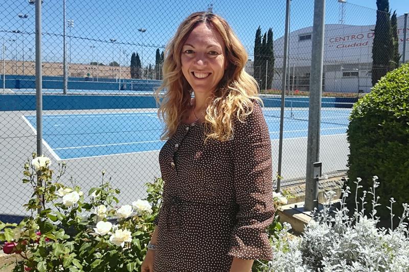 Vanessa Millán, en el polideportivo Cerro del Telégrafo de Rivas Vaciamadrid