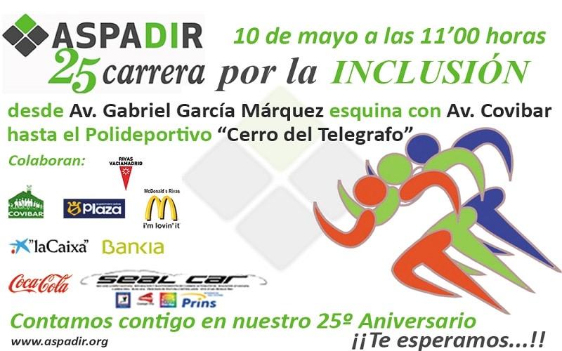 Aspadir celebra este viernes su Carrera por la Inclusión coincidiendo con su 25 aniversario