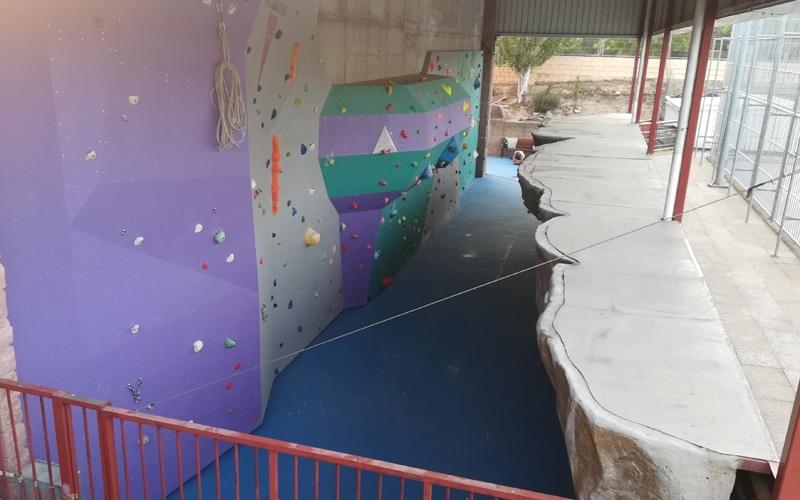 Rivas reestrena el rocódromo del polideportivo Cerro del Telégrafo