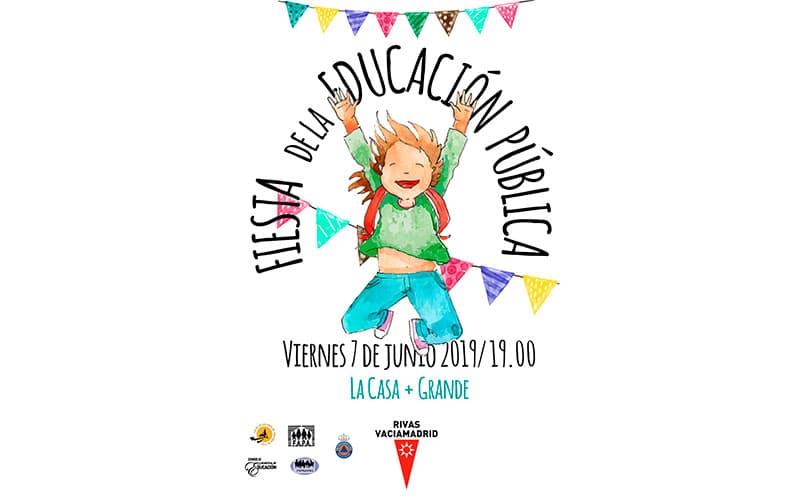 Cartel de la fiesta de la educación Pública 2019