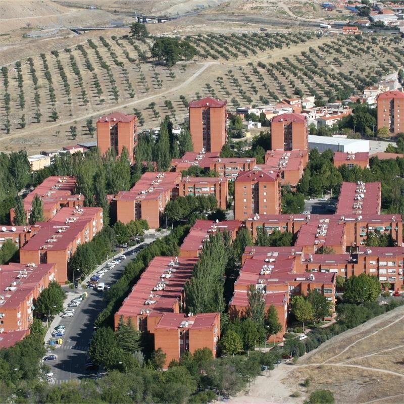 Vista aérea de la zona de 'Covibar Madrid'
